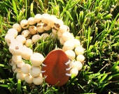 Eco-friendly tagua and acai nut bracelet, free shipping in US (charity option)