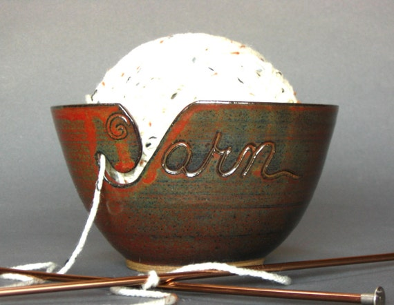 Yarn Bowl Iron Red (As Featured in Vogue Knitting) MADE TO ORDER