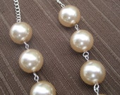 20% OFF SALE--Rose Pearl Necklace