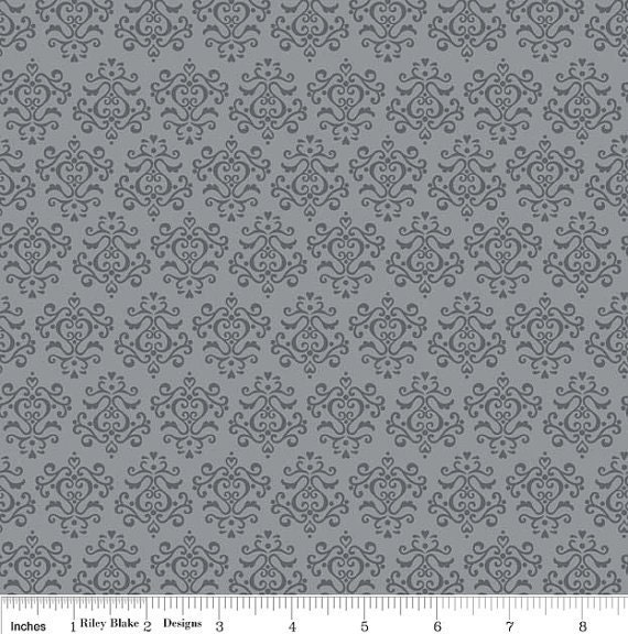 SALE - Minky Baby Blanket - Tuxedo Damask in Gray and Your Choice of Minky Color - Personalization Available - Made to Order
