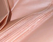Sheer Silk Fabric Blush - Pink Handmade Ahimsa Peace Silk Fabric. Bridal silk Fabric. ICE CREAM SHOP collection Blush. 100% Pure Silk Fabric