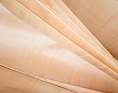 Pure Silk fabric by the yard. Ahimsa Peace Silk Fabric. Sheer Silk Fabric. Handloom Silk Fabric. ICE CREAM SHOP collection. Butter Cream