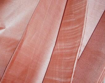 "Pure silk. Handwoven silk. Peace silk fabric. Ahimsa silk. Slow Fashion. Natural, organic, fairtrade. 2"" / 106 cm wide. Mocha Milk color."