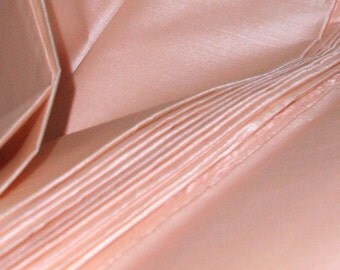 "Blush silk fabric. Peace Silk. Ahimsa Silk. Pure silk. Handwoven. Natural, organic, fairtrade fabric. 42"" / 106 cm wide. Blush color."