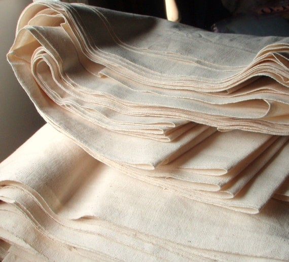 UNBLEACHED ORGANIC COTTON Fabric - For Tote Bags - Make Eco Friendly Shopping Bag to Markets. 44 inches wide.