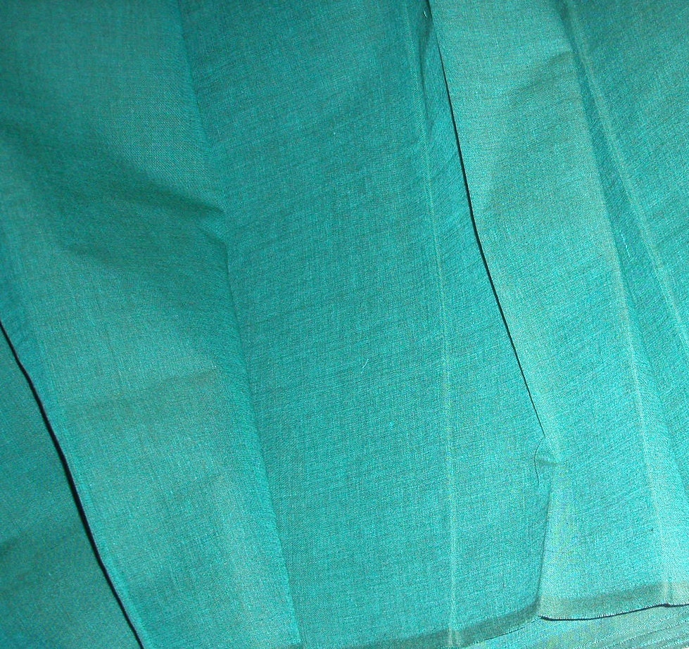 cotton fabric by the yard in teal weft and old by fabrictreasury. Black Bedroom Furniture Sets. Home Design Ideas