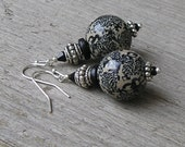 Chinese Dragons - Vintage Inspired Handmade Polymer Clay Earrings