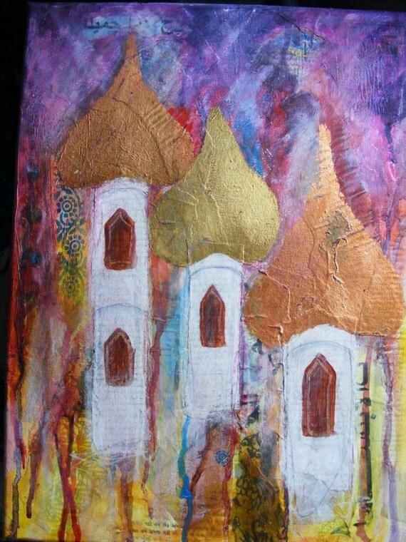 Arabian Rain, abstract painting.