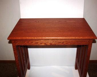Desk  mission solid oak or craftsman style desk ,writing desk laptop,computer desk