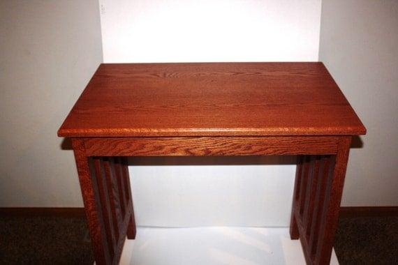desk mission solid oak or craftsman desk writing desk