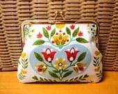 Vintage Folk floral Clutch purse bag