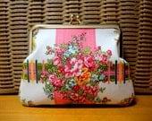 Unique floral Clutch purse bag