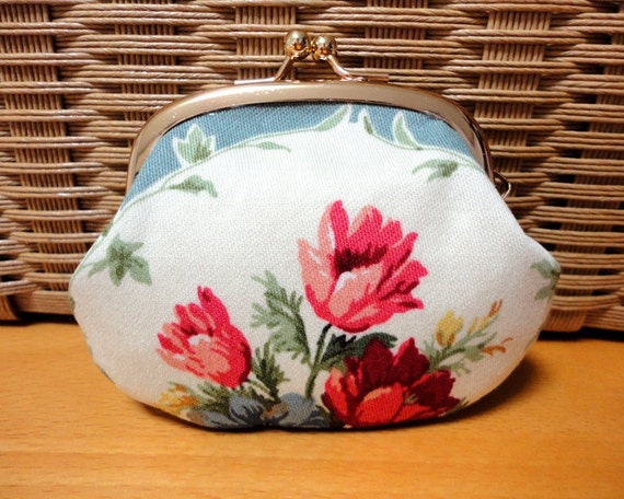SHABBY CHIC elegant floral Tiny Coin wallet