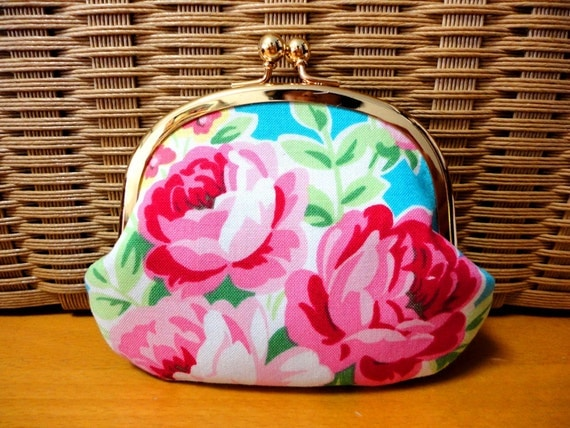 Elegant Rose floral Coin wallet