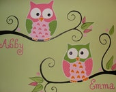 Custom Owls Canvas