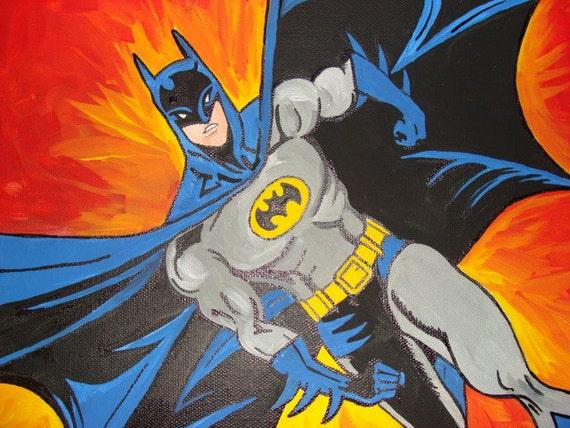 Batman Canvas Painting