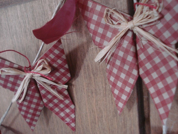 Gingham Butterfly  Garland