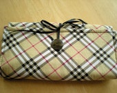 Blythe or Barbie Doll Fabric Carry or Storage Case in Plaid