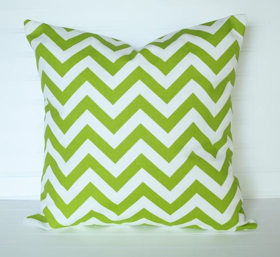 2 Chevron GREEN Pillow Covers 18x18