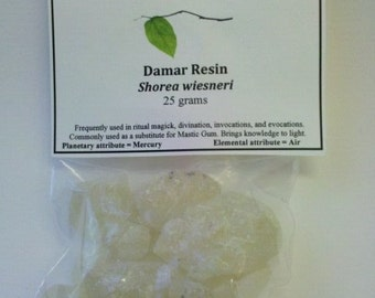 Damar Resin - Shorea wiesneri - useful in incense, spells, rituals of protection and blessing, and encaustic art