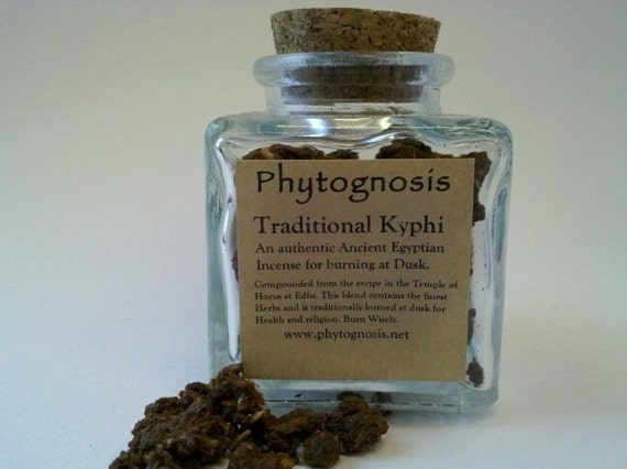 Ancient Egyptian Kyphi Incense - Used for healing, purification, consecration, and rituals involving Horus and other Egyptian Deities