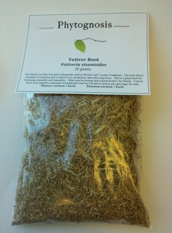 Vetiver Root - Khus Khus - used in the Hoodoo Tradition for business, VanVan Oil, love, and the Divine Masculine