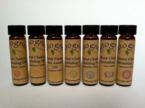 Chakra Anointing Oils - Great for Reiki, meditations, chakra balancing, healing, or to wear as perfume