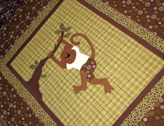 Baby Monkey Quilt PATTERN Boy Girl PDF Monkeys Are : monkey baby quilt pattern - Adamdwight.com