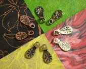 Earring Bails - 4 Colors.. Makes 10 Pairs of Earrings - Silver Plated, Antiqued Bronze, Vintage Copper, Gunmetal