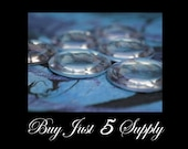 30 Crystal Clear 1 inch DOME Glass Cabochons... 25mm - Waiting For Your Creativity...Pendants, Refrigerator Magnets, more