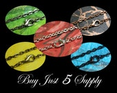 "25 Rolo Link Chains- 24"" with Lobster Clasp- 5 Colors to Choose From- Scrabble Tiles, Glass Tiles, Fused Glass, Bottle Cap Pendants, More"