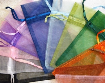 48 Organza Gift Bags... Fill With Candies, Soaps, Jewelry, Sachets, Pendants, Shower Favors, Wedding Favors, More...