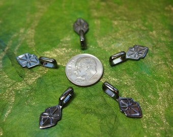5 MEDIUM Gunmetal Plated Bails-- Fused Glass Pendants - ScrabbleTiles- Glass Tile Jewelry...