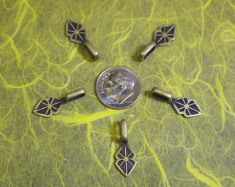 25 MEDIUM Antique Bronze Bails-- Fused Glass Pendants - ScrabbleTiles- Glass Tile Jewelry...