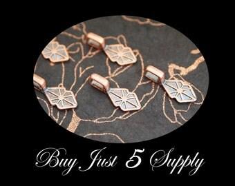 Vintage Copper Bails...Great for Fused Glass Pendants - ScrabbleTiles- Glass Tile Pendants...