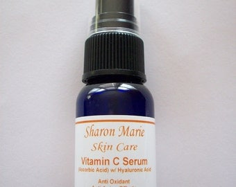 10% Vitamin C Serum with Hyaluronic Acid 1oz.made fresh per sale. Vitamin C in Serums lasts only 2 months.
