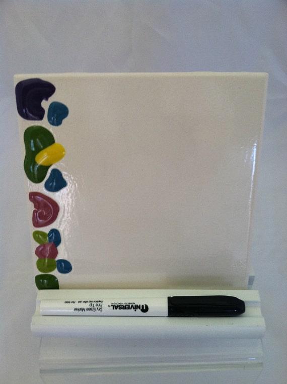 Ceramic Tile Dry Erase Message Board By Shadylaneceramics