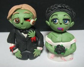 Zombie Wedding Cake Toppers and/or Sculpture Figures reserved for attyanna