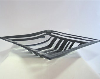 Lines and Curves - in a Fused Glass Bowl