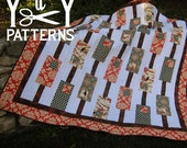 PDF Quilt Pattern MOD Rectangles, Twin Size, Simple and Easy, Modern and Fun,  from Yards and Yards