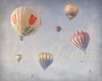 Float into the Clouds - BLUE - Old Time Vintage Style Original Photograph