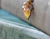 SALE - Golden Leaf & Berries Necklace