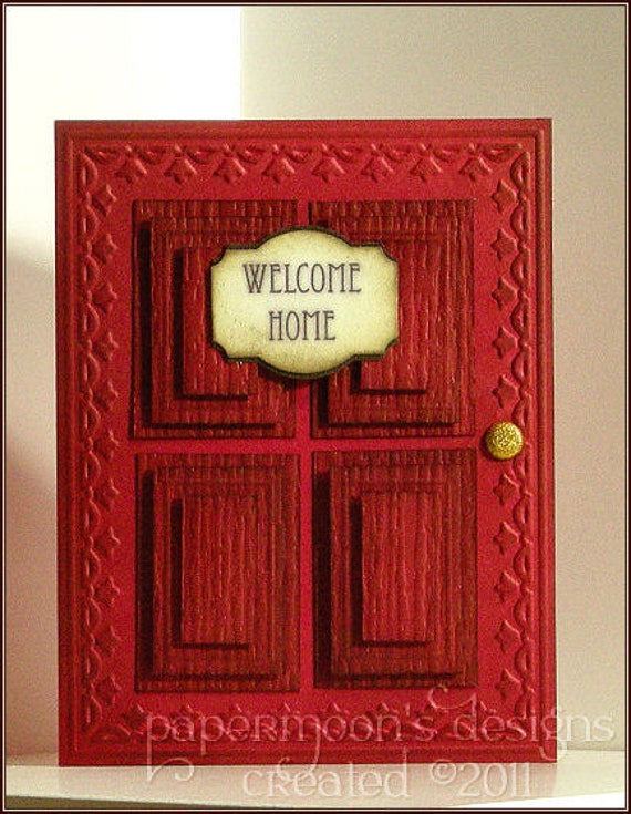 items similar to welcome  welcome red door name banner
