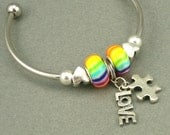 Autism Love Pandora Style Bangle