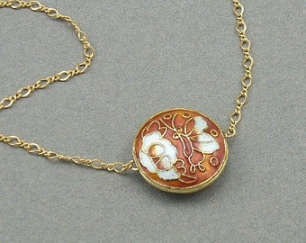 Golden Butterfly gold necklace