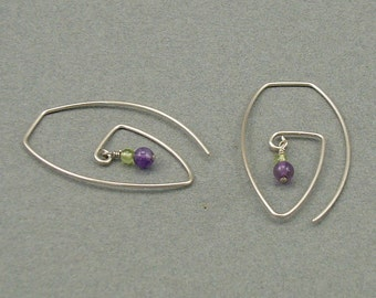 Summer Spirals silver earrings
