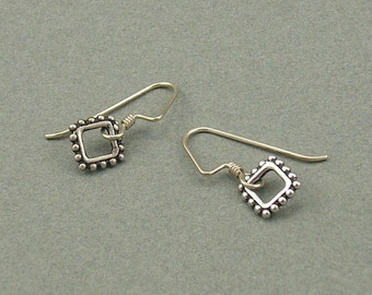 Diamond Links silver earrings