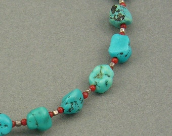Southwest Trail turquoise necklace