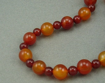 Red Fire chunky agate carnelian necklace