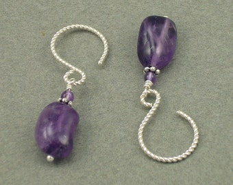 Amethyst Twist earrings